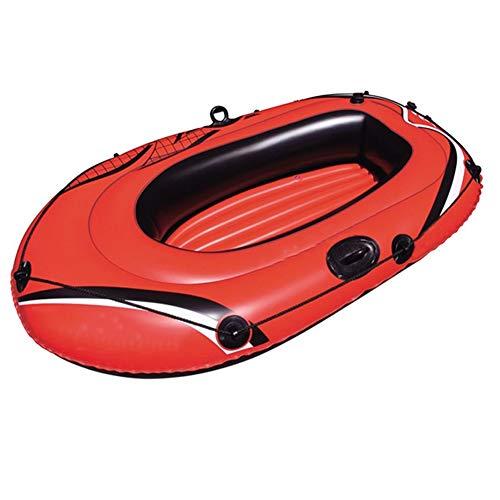 ZOUBIAG Schlauchboot for 2 Personen Mit Paddeln Und Pumpen Zur Beruhigung des Wassers (Color : Orange, Size : A)