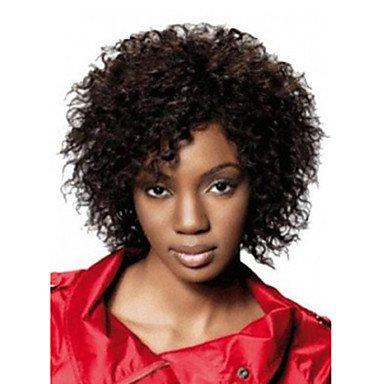HJL-12 pouces femmes afro ondes courtes cheveux synth¨¦tiques perruque de noir , black
