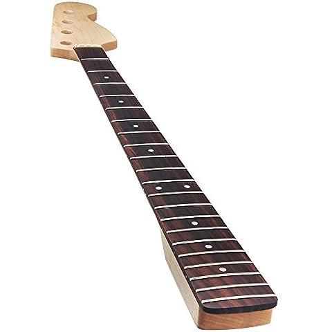 Kmise giallo 21tasti Acero collo per Fender bass-jazz Bass Collo di ricambio, Natural 2