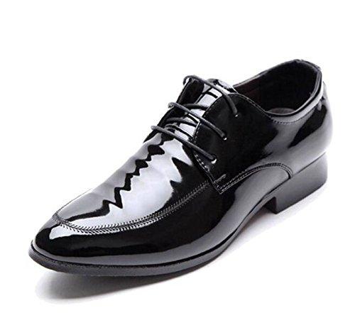 LINYI Nouvelles Affaires Casual Chaussures Chaussures Habillées Pour Hommes Sont Pointues Chaussures Pointues Chaussures Pour Hommes Brillants Black