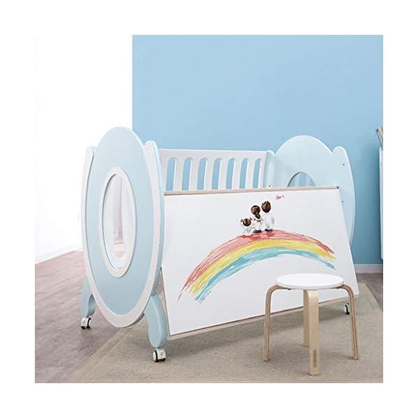DUWEN-Cot bed Solid Wood Multifunctional Baby Cot European Toddler Bed Children's Bed Game Bed DUWEN-Cot bed  4