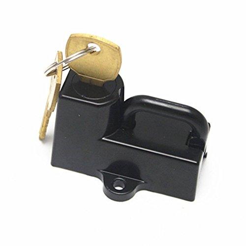 Cerradura universal de bloqueo de metal para casco Harley 7/8con 2 llaves (Color negro)