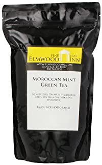 Elmwood Inn Fine Teas, Moroccan Mint Green Tea, 16-Ounce Pouch