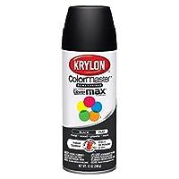 Krylon Division 51602 12 Oz Ultra Flat Black Interior & Exterior Decorator Spray - Pack of 6