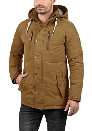 SOLID Dry Jacque Herren Parka lange Winterjacke Mantel mit Kapuze aus hochwertiger  Baumwollmischung Cinnamon (5056 ...