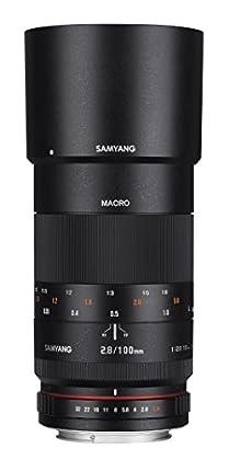 Samyang F1112309101 - Objetivo fotográfico DSLR para Micro Cuatro Tercios AS IF UMC (Distancia Focal Fija 100mm, Apertura f/2.8-32, diámetro Filtro: 67mm), Negro