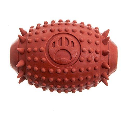 Tyker - Tomasaki - Hundespielzeug - Rugbyball - Leckerli-Ball - Spielzeug für große & kleine Hunde - Braun