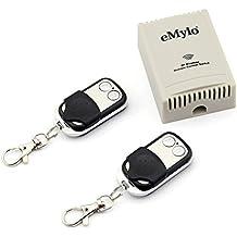emylo® DC 12V 2canales Smart extensor inalámbrico interruptor de control remoto Negro transmisor controlador