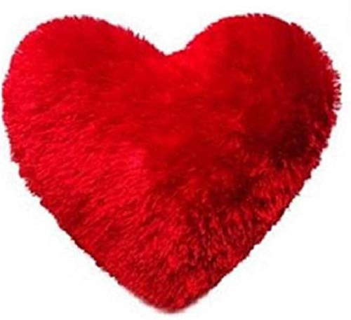 WEB AD Heart Shape Attractive and Romantic Red Cotton Cushion for Home