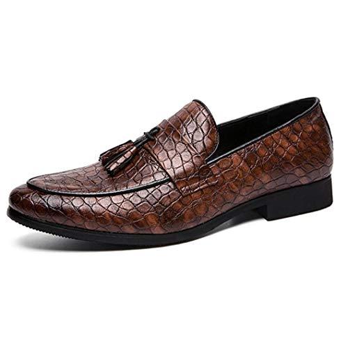 Feidaeu Herren Leder Business Schuhe Büro Hochzeitsfeier Big Size Low Heel Loafers Formal Dress Oxfords Schuhe -