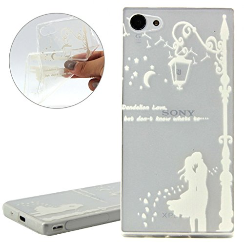 Coque pour Sony Xperia Z3 Compact, Etui pour Sony Xperia Z3 Compact, ISAKEN Transparente Ultra Mince Souple TPU Silicone Etui Housse de Protection Coque Étui Case Cover pour Sony Xperia Z3 Compact (To Nuit Couple