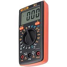 Asiproper ANENG - Multímetro digital (pantalla LCD, 6000 contadores, retroiluminación CA/CC