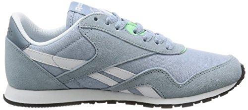 Reebok Cl Nylon Slim Hv, Sneakers Femme Gris (Grey/stonewash/white)