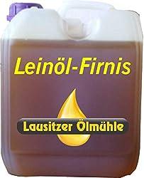 Hoyo Technology GmbH 5 Liter Leinöl Firnis Lausitzer Leinölfirnis für Holzschutz doppelt gekocht und harzfrei