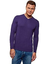 Maglione Viola Amazon Abbigliamento it Uomo 5R7n4Bq