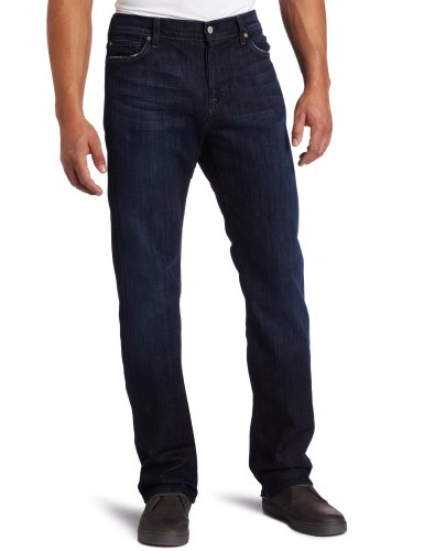 7 For All Mankind Herren Jeans Straight Leg Pant - Blau - 36W / 34L - Mankind Straight Leg Jeans