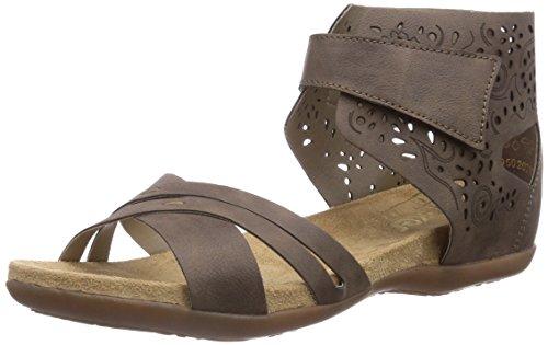 Rieker  60557, Sandales pour femme Beige - Beige (fango / 64)
