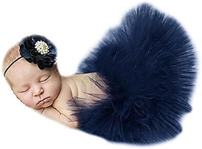 Ninimour DISFRAZ Falda del tutú del vestido ropa de fotografía para bebé recién nacido Costume Set