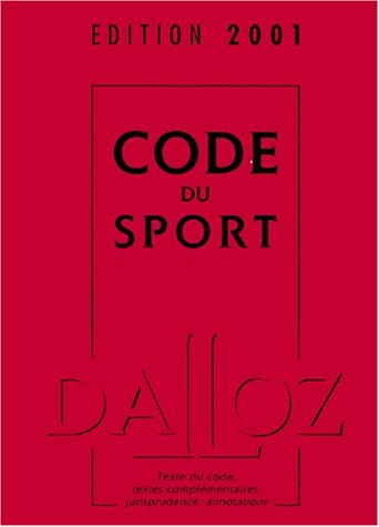 Code du sport, édition 2001