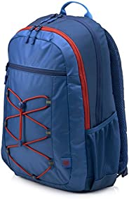 """HP 15.6"""" Active Backpack, Marine Blue/Coral Red - 1M"""