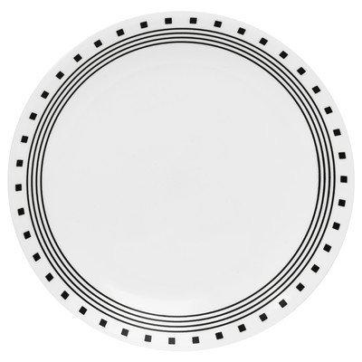 Livingware 10.25 City Block Dinner Plate [Set of 6] by CORELLE Corelle City-block