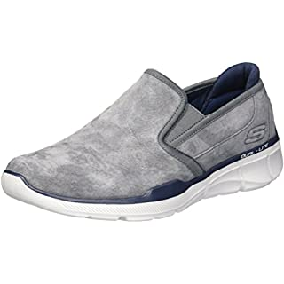Skechers Herren Equalizer 3.0-Substic Slip On Sneaker, Grau Charcoal, 45 EU