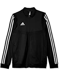 adidas Tiro19 Polyester Youth, Track Tops Unisex Bambini, Black/White, 11-12A