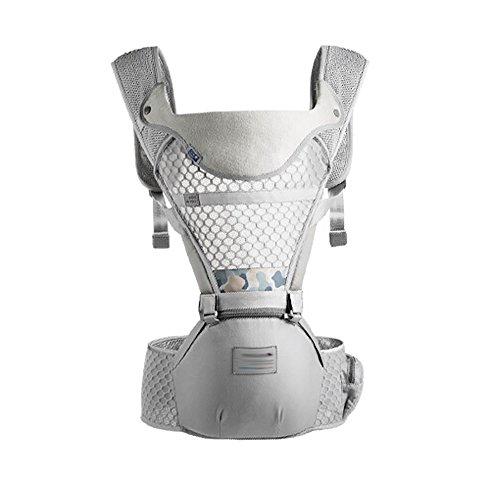 Baby-Riemen-Sommer-Breathable Abschnitt Justierbarer Neugeborener Riemen-Front-Griff-Baby-Taillen-Schemel-Hold-Multifunktions-Kindersitz Eltern-Baby-Elternartefakt A++ (Farbe : Gray) -