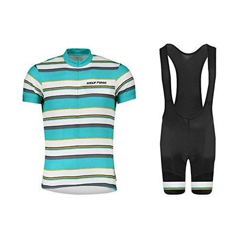 Uglyfrog #02 Bike Wear Sommer Herren Radsport Anzüge Kurzarm Cycling Jersey + Trägerhosen Sport Bekleidung Kit (Kurzarm-union-anzug)