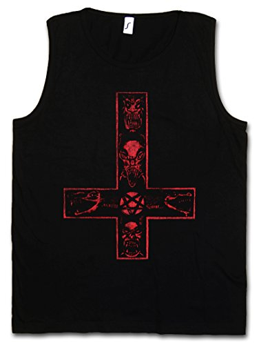 satanic-cross-tank-top-dbardeur-traverser-diable-glise-satanisme-aleister-pentagram-religion-666-dev