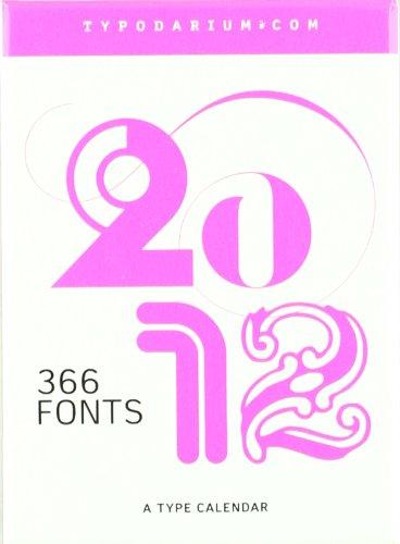 Typodarium 2012: 365 Fonts by 180 Foundries and Designers. A Calendar for 2011. Abreißkalenderblock mit den Feiertagen aller 30 Herkunftsländer der ... Stülpschachtel zum Sammeln der Schriftmuster -