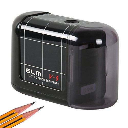 Elektrischer Anspitzer Kasimir Automatischer Kompakter Batteriebetriebener Und Haltbarer Spitzer Für Kinder Künstler In Schulen Klassenzimmer Büro Zuhause (Schwarz)