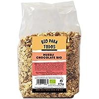 Bio para todos Muesli Chocolate Bio - 6 Paquetes de 375 gr - Total: 2250 gr