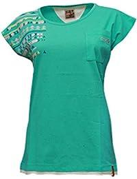 ABK Madrid Tee Camiseta de Manga Corta, Mujer, Turquesa (Pacific), L