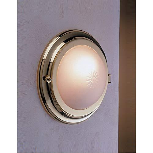 Runde Wandleuchte LED Ø18,5cm aus Messing 4000K neutralweiß Schiffslampe Badezimmer Bad Leuchte - Messing Bad-leuchten
