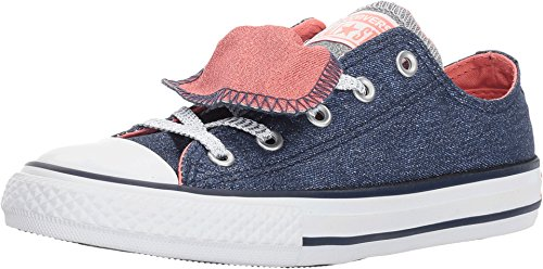 Converse Chuck Taylor All Star Double Tongue Shine and Shimmer Low TOP (13 Little Kid M) - Converse Chuck Taylor Double Tongue