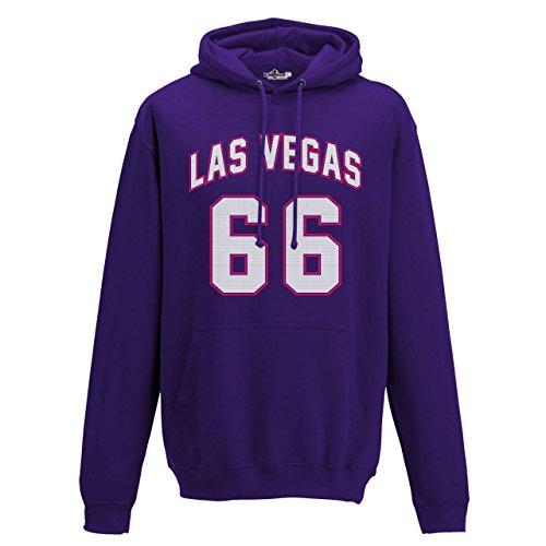 Felpa Cappuccio Uomo Las Vegas 66 Deep Berry Purple