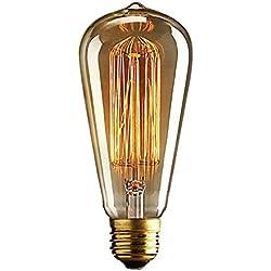 incandescentes - GAOLUSI Bombilla Antique Vintage Retro E27 40W 110V / 220V Edison luz incandescente de jaula de ardilla Led Bombilla Filamento