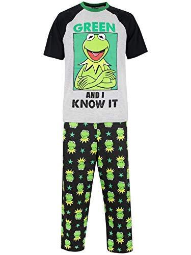 Disney Die Muppets Herren Kermit Schlafanzug Mehrfarbig Medium