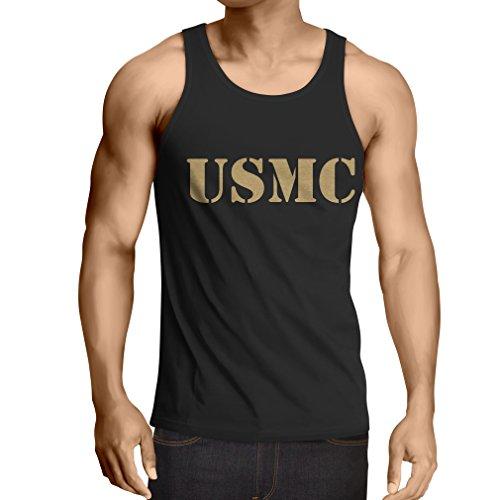 lepni.me Weste USMC Emblem, Marine Corps, Marines Logo, US Navy Armed Forces (Medium Schwarz Gold) -