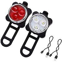 Queta Luz USB Cargador COB Highlight Advertencia Silicona Bicicleta de Montaña Luz de Cola Accesorios de Bicicleta