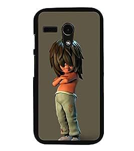 Fuson Designer Back Case Cover for Motorola Moto G :: Motorola Moto G (1st Gen) :: Motorola Moto G Dual (Hair Style Modern Funny Boy making Fun handsome)