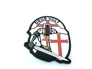 Crusader 'DEUS VULT ' Knights Templar Airsoft PVC Patch