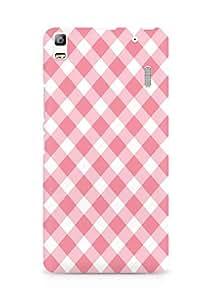 Amez designer printed 3d premium high quality back case cover for Lenovo A7000 (Stripe white and pink chevron)
