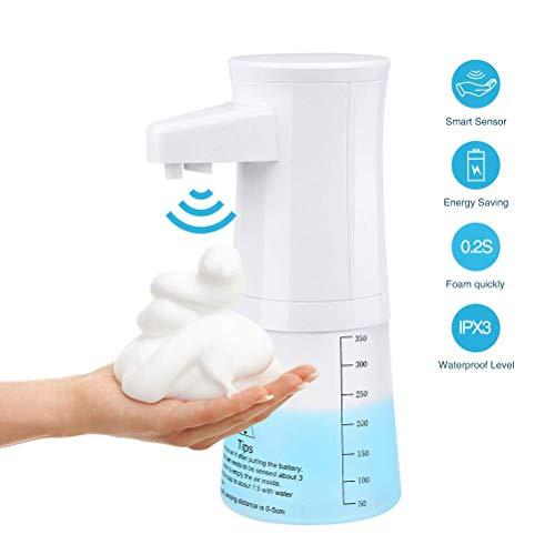 Shnvir Automatischer Seifenspender, 350ML Infrarot-Bewegungssensor Wasserdichte berührungslose Intelligenter Auto schäumender Seifenspender Händedesinfektionsmittel für Küche Badezimmer Toilette