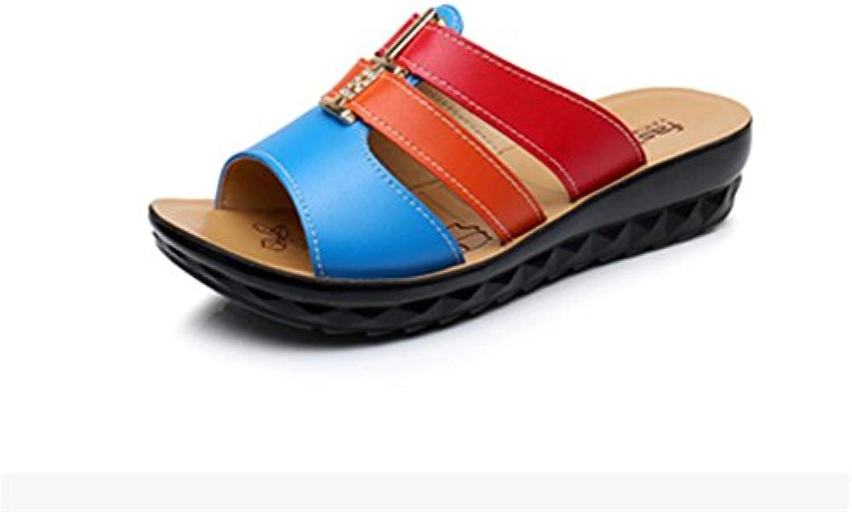 pengweiCoole Pantoffel Damen Sommer Piste Ferse Schuhe Strand Schuhe Farbe Anti-Rutsch Hausschuhe , 2 , US9 /ö