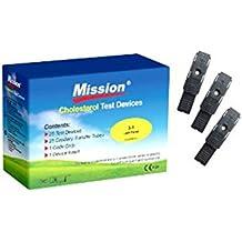 Tiras de prueba Colesterol (25 Pzas.) para la Mission 3-en-