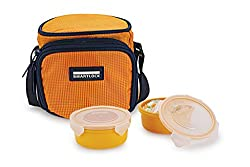 Smart lock SML-302 Airtight Tiffin Box With Insulated Bag , Melamine, Yellow, 2 pc set