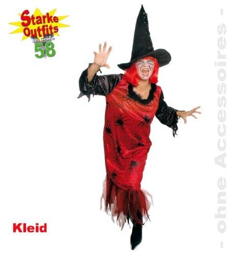 Kleid Red Spider 58 Spinne Damen Kostüm 1tlg große (Kostüme Spider Motto)