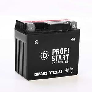 Profi-Start YTX14-BS / 51214 Batterie moto Serie-AGM 12 Ah